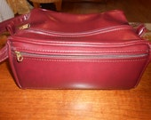 Vintage extra large maroon mens cosmetic ditty bag by FS Originals Never used!