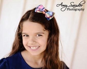 Madras double layer bow headband