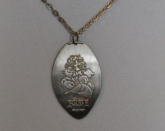 Disney World Brave Meridah pressed quarter necklace