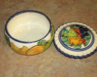 Vintage Fruit Trinket Dish