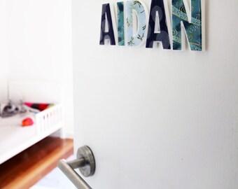 Nursery decor, decor letters for children's room - boys names