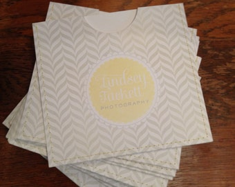 Personalized cd sleeve wedding favor PRINT ANYTHING {pack of 20}