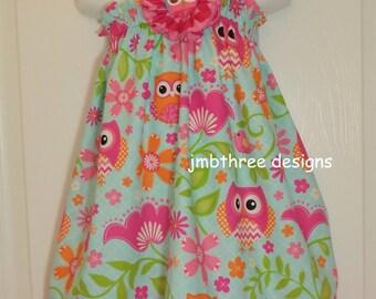 Owl Halter Top/Dress Toddler Infant Sundress size 0-3m-3t