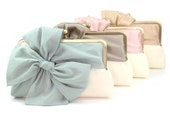 Bridesmaid Gift | Personalized Gift | Bridesmaid Clutch | Wedding Clutch | Bridesmaid Gift Idea [Set of 4 Bow Clutches]