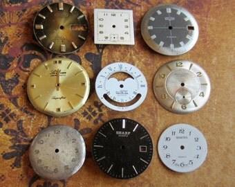 Vintage Antique Watch  Assortment Faces - Steampunk - Scrapbooking v96