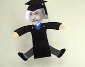 Large Handmade Albert Einstein 3D Graduation Card