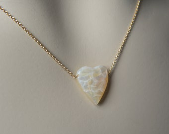 Opal Necklace--Broken Heart Style