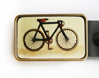 Vintage Bicycle Belt Buckle Single Speed