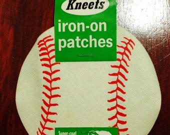 Vintage Softball Iron On Patches