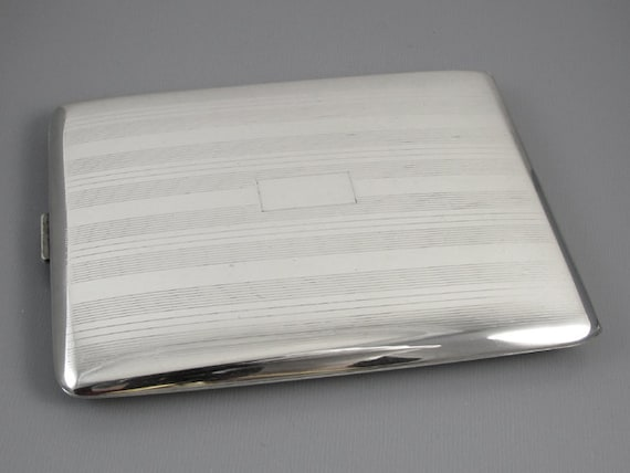 Cigarette case sterling silver 2.9 ounce Art Deco m126E&C