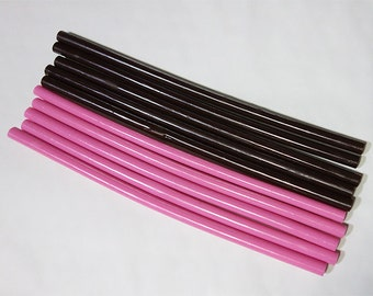 LONG Hot Melt Glue sticks - 10 pieces  (Pink &  Brown)