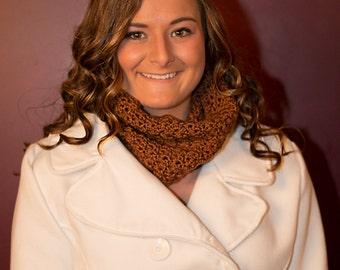 Brown Neckwarmer - Toffee Brown Cowl - Infinity scarf - unisex neckwarmer