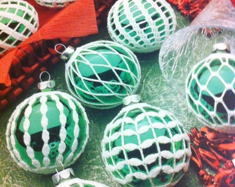 Free Crochet Patterns For Christmas Ball Covers : Crochet Christmas Ball Ornament Covers ? Quick And Easy ...