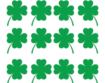 Shamrock Decal Saint Patricks Day Decoration Decals for Beer mugs and Wine Glasses Green Four Leaf Clover Decal Happy St. Pattys Day Irish