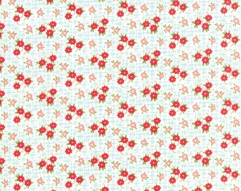 SUMMER SALE - 2 1/4 Yards - Daysail - Meadow in Creamy White - SKU 55104 14 - by Bonnie and Camille for Moda Fabrics