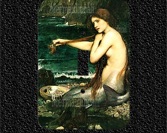 A Mermaid by John Waterhouse Single Switch Plate Covers Toggle/Rocker/Outlet