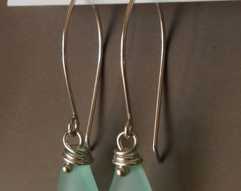 SEAFOAM modern DROP  Earrings