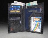 Carbon Fiber RFID Passport Wallet - Mens Travel Wallet - The Cadillac