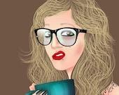Custom portrait (Full Body) business owner avatar / Wedding / Engagement
