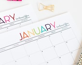 Printable 2015 Monthly Calendar by The TomKat Studio