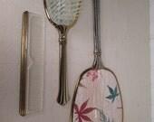 Vintage Vanity Mirror. Comb and Brush Set - 1950's
