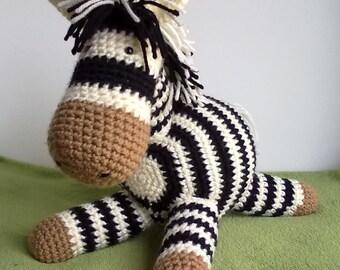 Crochet Zoey the Zebra pattern