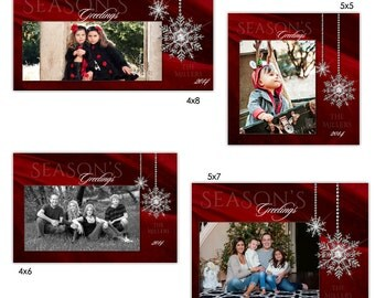 christmas photo card holiday photoshop templates for. Black Bedroom Furniture Sets. Home Design Ideas
