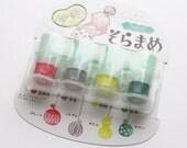 versacraft  ink pads. japanese rubber stamp pad. multipurpose for paper fabric. preinked daubers. for planner stamp. set of 4. mizufuusen