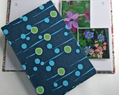 Garden Journal The Essentials with Navy Blue Abstract Koi Pond