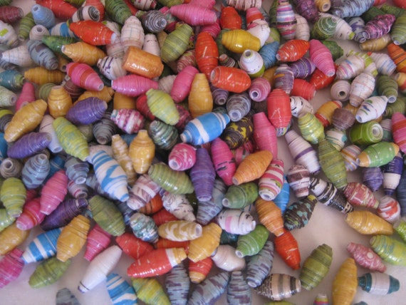 New colors!!!! Hand rolled mini paper beads, 100 colorful beads, for jewelry making, garlands, or any other craft