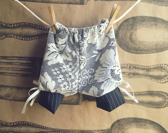Baby Girls Bloomer Shorts in Black Lace