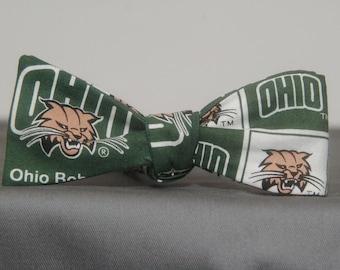 Ohio Bobcat in Blocks  Bow Tie
