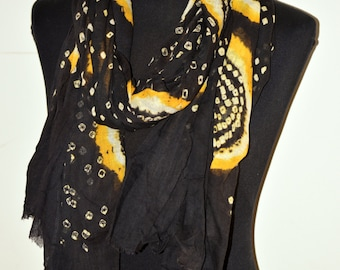 Topsy Curvy Limited edition ...... Super soft  batik/ bandhani cotton fabric Scarf