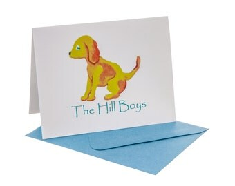Dog Fold Over Note Cards Personalized (Quantity 24)