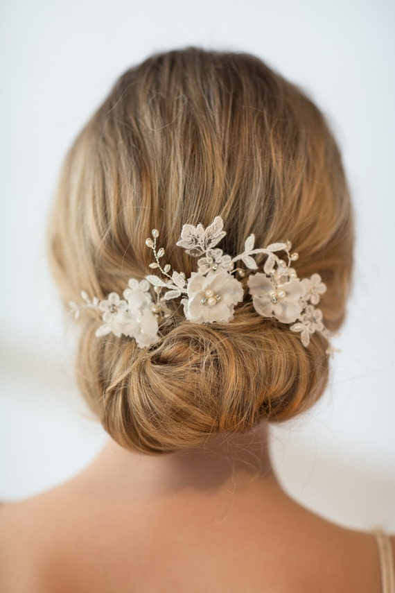 Hair Pins : Wedding Hair Pins, Bridal Hair Pins, Flower Wedding Hair Pins
