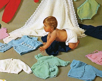 PDF Patterns / Patons Babyknits Pattern Book 202 / Babies and Toddlers Patterns / 1960's Vintage knitting patterns / 0 to 2 years /Post Free