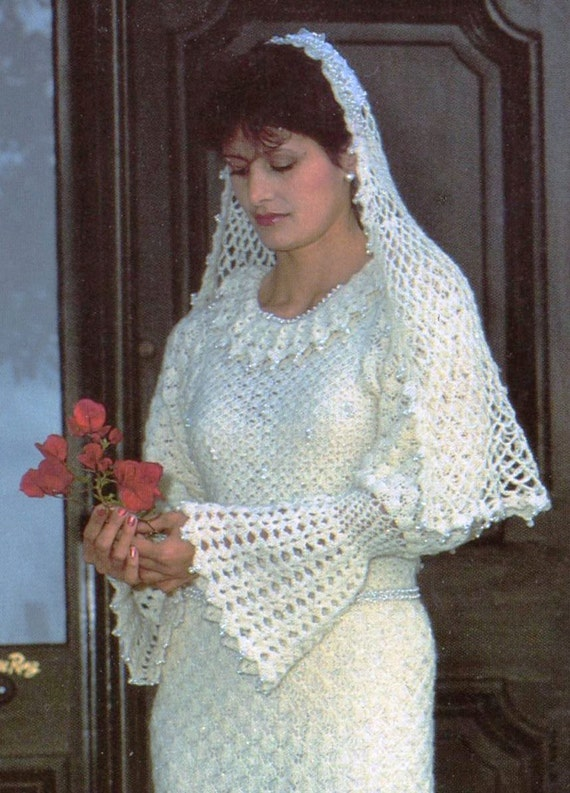 Pdf Crochet Pattern Vintage Women S Crochet Wedding