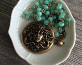 Seaweed goddess necklace