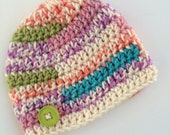 Newborn girl 0-3 months baby hat Summer light pastels beanie infant hat baby photo prop Ready To Ship