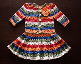 Crochet dress. Crochet Cardigan.