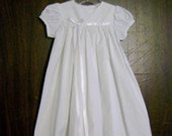 Cotton Christening, Baptism, Blessing Gown with lining