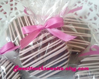 Pink Chocolate Covered Oreos Cookies Baptism Favors Christening Favors Pink Baby Shower Cookies Sweet 16 Party Wedding Favors 1 Dozen