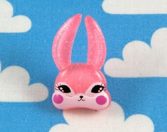 Kawaii Brooch Pin - Pink Bunny Rabbit