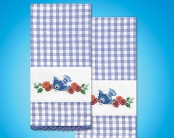 Tobin Home Crafts - Bluebird T212953 Kitchen Towels Stamped for Embroidery
