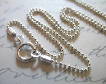 Shop Sale.. 1 pc, 16 or 18 inch, Sterling Silver Chain Necklace Chain, 1 mm, Finished, wholesale - d33.t hp