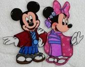 DISNEY EPCOT Showcase Japan Mickey & Minnie - Printed Scrapbook Page Paper Piece SSFF