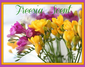 FREESIA Scented Soy Wax Melts - Floral Scented Soy Tarts - Wickless Candle - Hand Poured Soy Melts - Highly Scented - Hand Made In USA