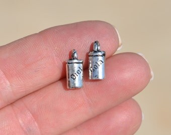 5 Silver  Diet Cola Drink Charms SC1916