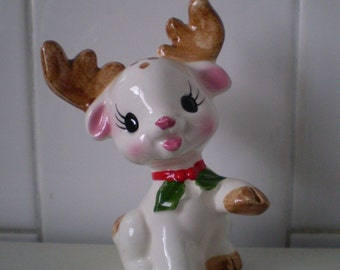 Vintage Christmas Reindeer Figurine