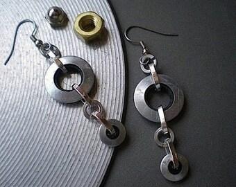 Circularity - industrial hardware earrings